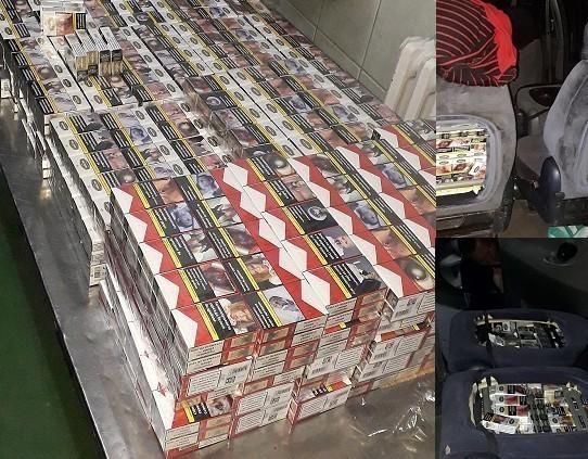 """""""Фолксваген шаран"""" нафилован са 12.000 паклица цигарета"""