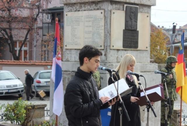 У Врању, код Споменика жртвама бугарског окупатора, обележен Дан примирја