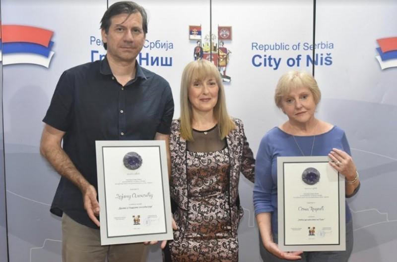 Прошлогодишњи добитници награде Соња Ћирић и Дејан Алексић