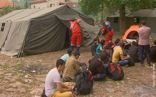Dimitrovgrad: Šatori za migrante