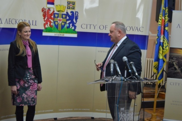 Градоначелница Сомбора Душанка Голубовић посетила Лесковац