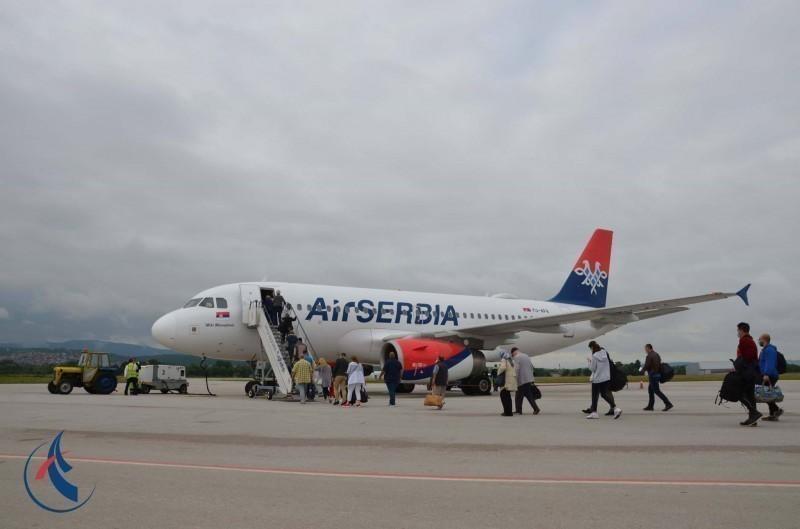 """Obnovljeni letovi: Avion """"Er Srbije"""" jutros odleteo iz Niša za Frankfurt"""