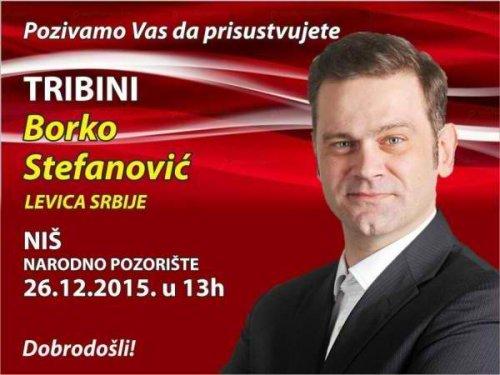 Трибина: Борко Стефановић данас у Нишу