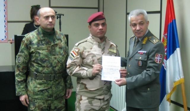 Припадници Оружаних снага Ирака завршили у Нишу курс из области војне медицине