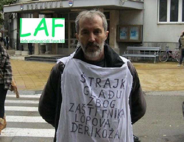 Позив за подршку нишком новинару који штрајкује глађу испред ПУ Ниш