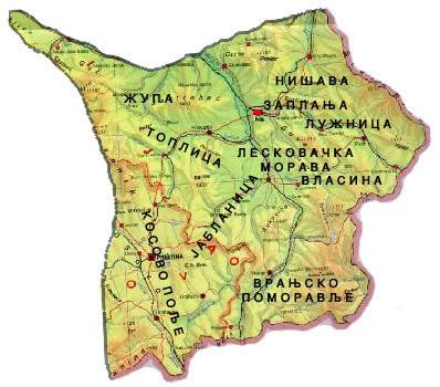 karta juzne srbije Kratka istorija propasti jugoistočne Srbije | Južna Srbija Info karta juzne srbije