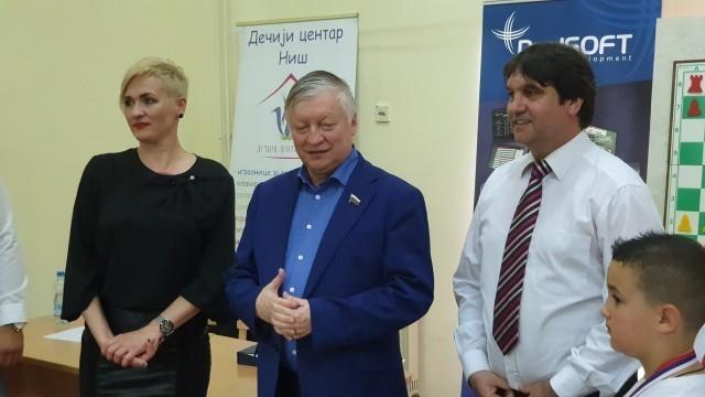 Анатолиј Карпов у Дечијем културном центру