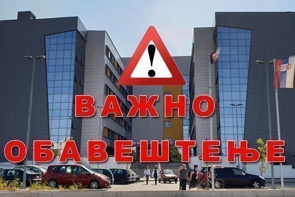 Obaveštenje i spisak pacijenata zbrinutih UKC Niš, nakon sudara autobusa i voza u Donjem Međurovu
