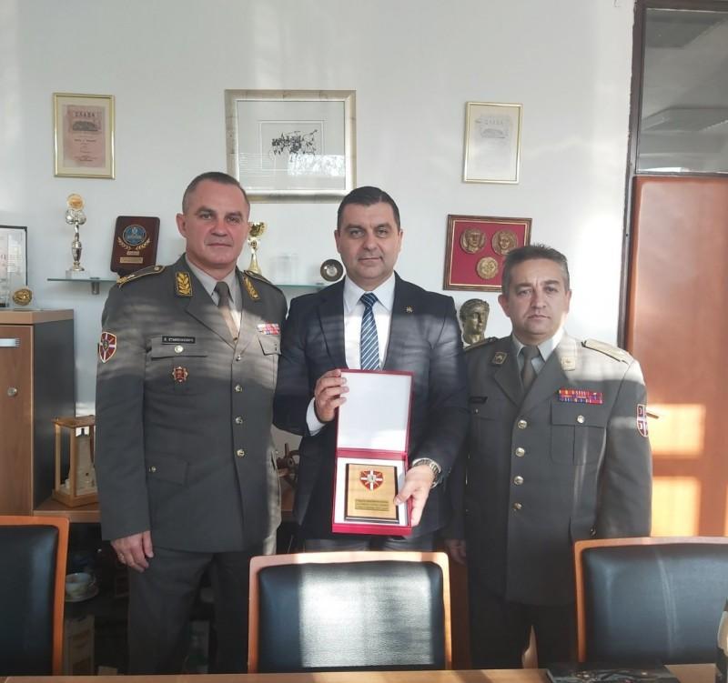 Коцићу уручено признање Треће бригаде Копнене војске