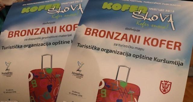 """Dva """"bronzana kofera"""" za Turističku organizaciju Kuršumlija"""