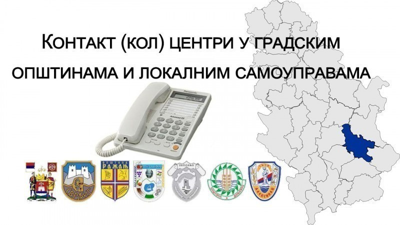 Kontakt (kol) centri u gradskim opštinama i lokalnim samoupravama Nišavskog okruga