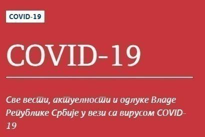 Preminula jedna osoba, registrovano ukupno 2.867 potvrđenih slučajeva COVID 19 u Srbiji
