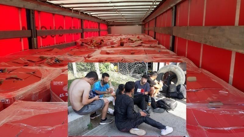 У камиону пуном чипса из Грчке скривено седморица миграната
