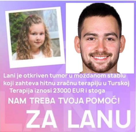 Nišlija Andrija Živković fudbaler grčkog PAOK-a uplatio ceo iznos za lečenje male Lane