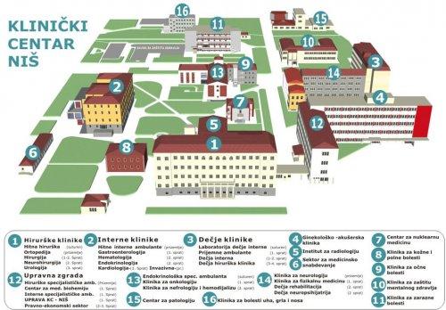 mapa klinickog centra srbije Problem nestašice lekova u Kliničkom centru Niš biće rešen u  mapa klinickog centra srbije