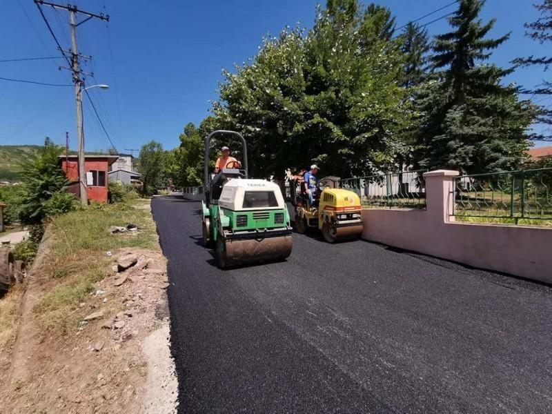 Завршено асфалтирање централних улица у Горњем Матејевцу