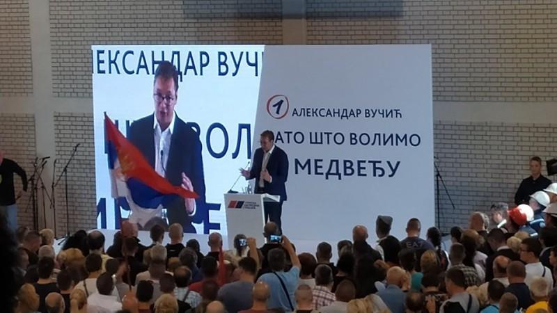 Vučić u Medveđi: Ovo je bila Srbija i biće, stiže investitor!