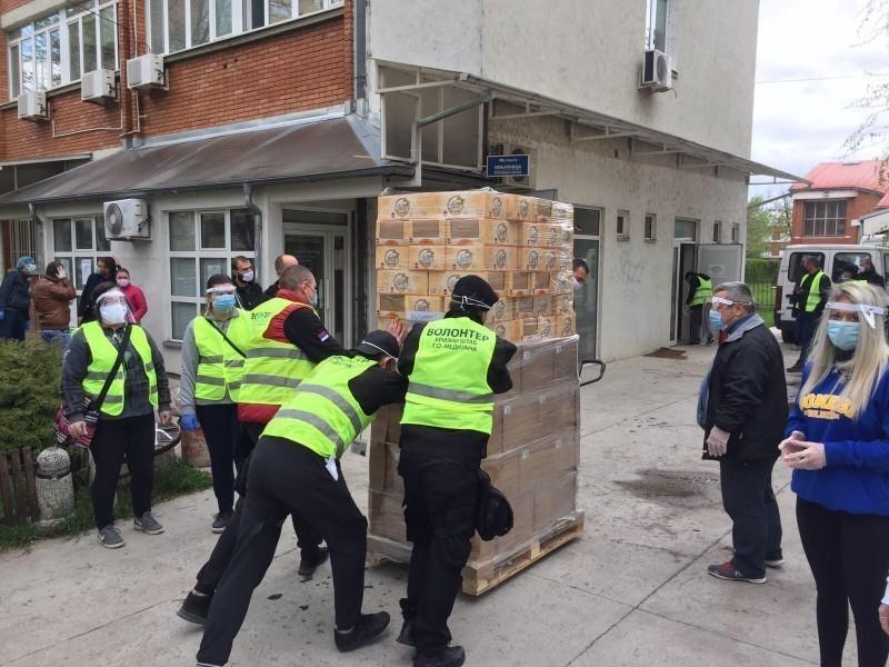 Градској општини Медијана Компанија Mozzart донирала 500 пакета намирница и хемије