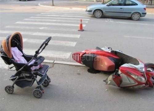 Motorom udario majku, baku i dvoje dece na pešačkom prelazu