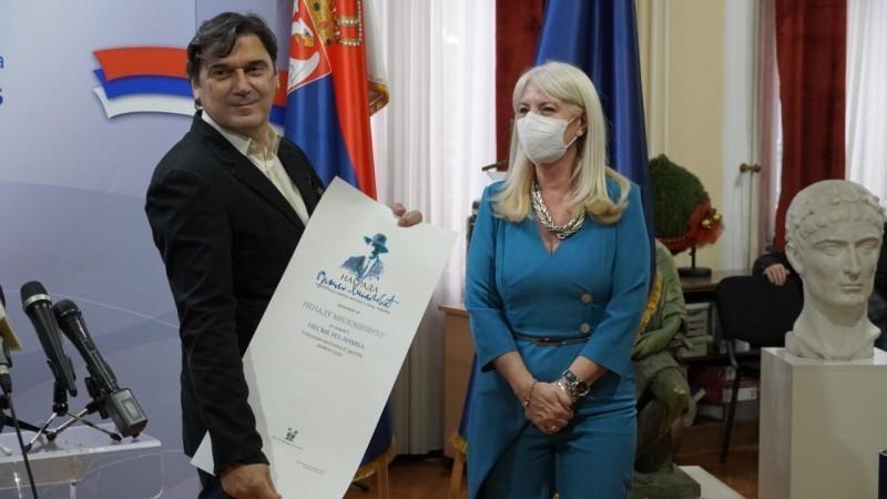 "Nagrada ""Branko Miljković"" pesniku Nenadu Miloševiću"