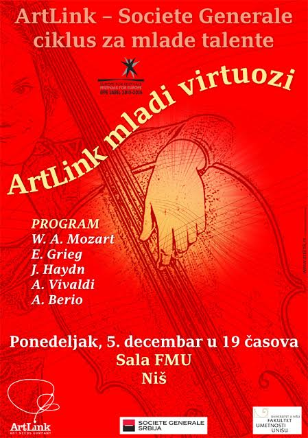 ArtLink virtuozi nastupili u Nišu