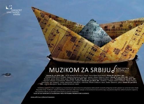 Nikola Đorđević nastupa na sceni Fakulteta umetnosti