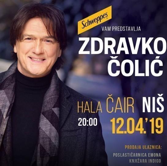 Звезда Балкана Здравко Чолић, 12. априла у Нишу