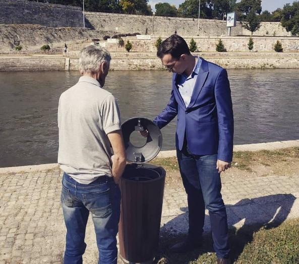 Немања Милошевић поред Нишаве