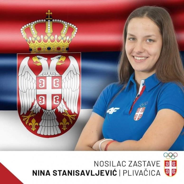 Leskovčanka Nina Stanisavljević nosila zastavu Srbije na otvaranju Evropskog olimpijskog festivala mladih u Bakuu