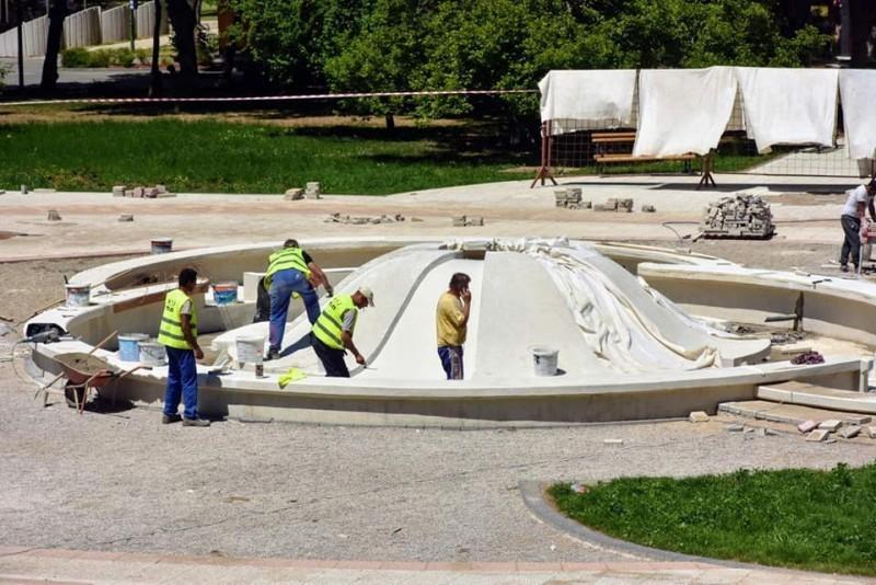 Ближи се крај радова на реконструкцији Трга у Нишкој Бањи
