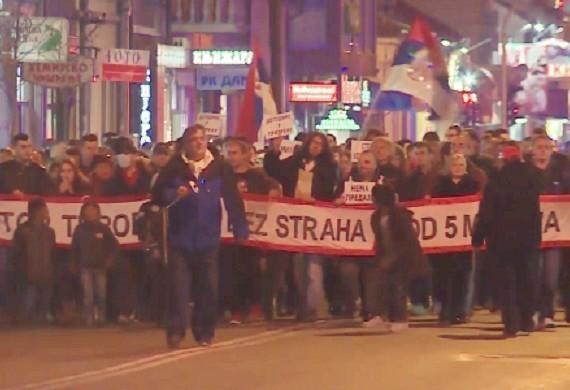 """10. protest """"1 od 5 miliona"""" u Nišu: Georgijev pozvao okupljene na svoj koncert"""