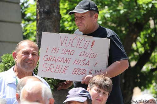 Protest zbog gašenja NTV, foto Niške