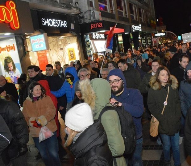 6. протест у Нишу: Поштовати Устав и спроводити законе
