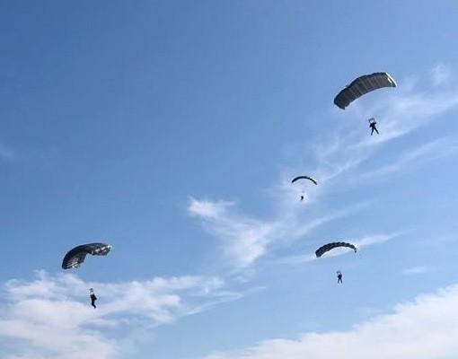 Падобранци ветерани показали своје умеће на нишком аеродрому