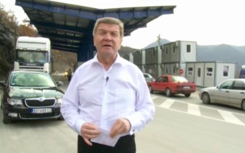 Borislav Pelević štrajkuje glađu na prelazu Jarinje
