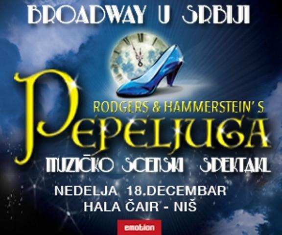 """Brodvejski mjuzikl """"Pepeljuga"""" 18. decembra u hali Čair"""