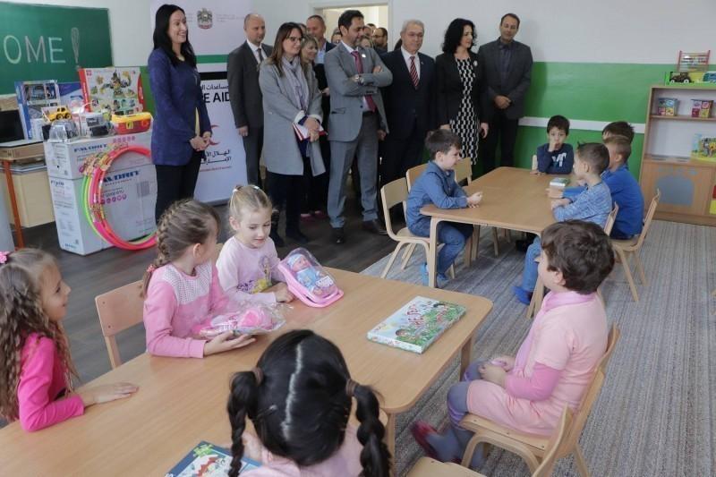 Уједињени Емирати опремили просторије за предшколце у Поповцу - вредност донације пола милиона динара