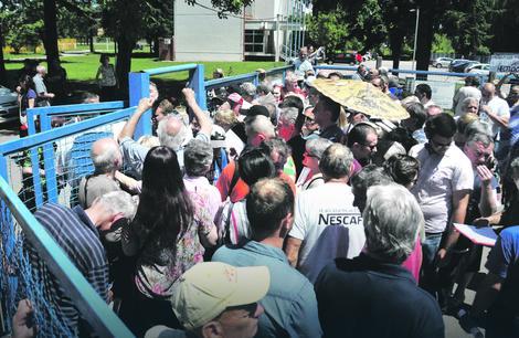 Нишлије најављују нове протесте испред капије Топлане Фото: РАС Србија