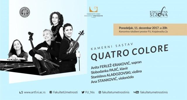"""Концерт камерног састава """"QUATRO COLORE"""""""