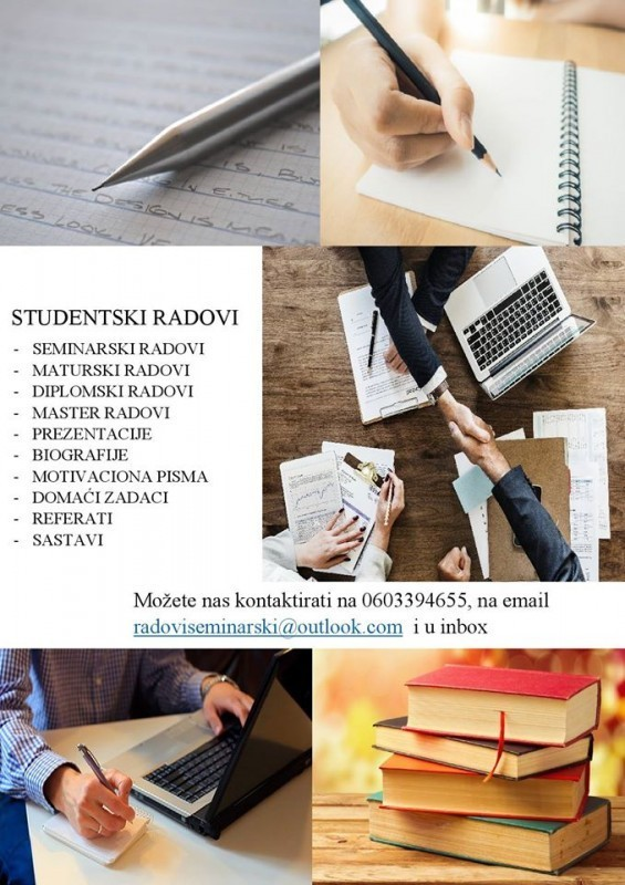 Seminarski, maturski radovi, prezentacije, eseji, diplomski radovi - pouzdano i povoljno