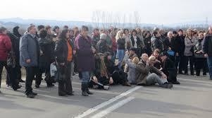 Радници блокирали центар Пирота