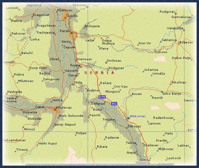 ražanj srbija mapa Blokiran auto   put kod Ražnja, šleper sleteo sa puta | Južna  ražanj srbija mapa
