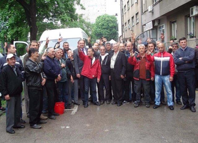 Борци испратили адвоката у Стразбур, Фото: Бранко Јаначковић