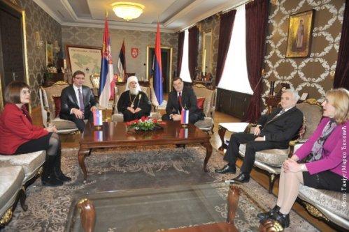 Sastanak Milorada Dodika sa delegacijom iz Srbije, Foto: Tanjug, Marko Đoković