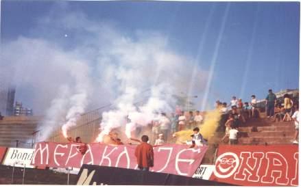 Tuča nakon utakmice FK Radnički Niš - FK Inđija
