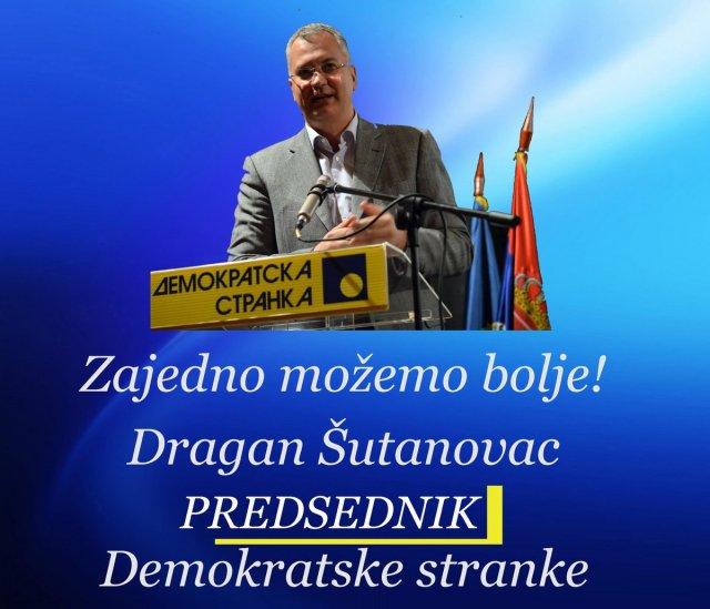 Dragan Šutanovac novi predsednik Demokratske stranke, Pajtić na trećem mestu