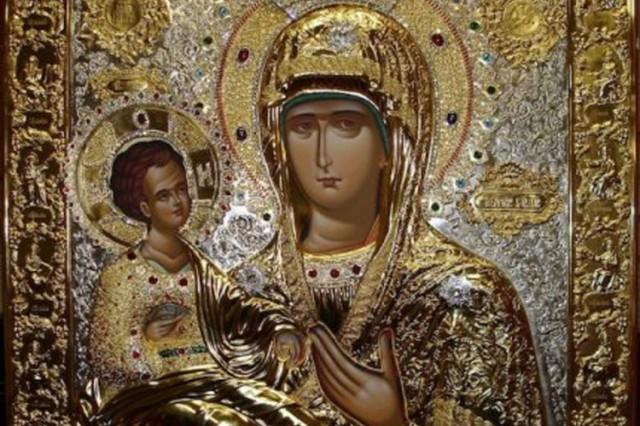 Čudotovorna Ikona Presvete Bogorodice Trojeručice