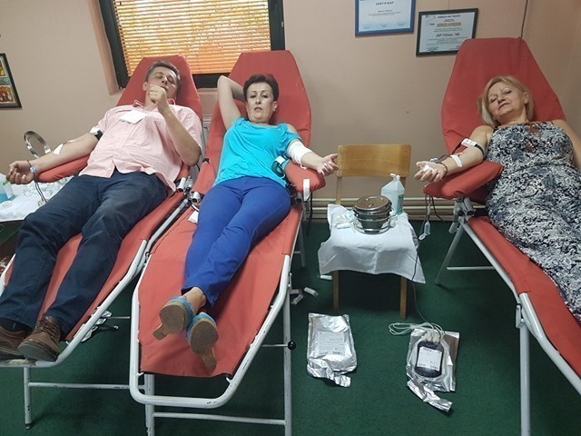 """Zaposleni u """"Tržnici"""" u akciji dobrovoljnog davanja krvi"""