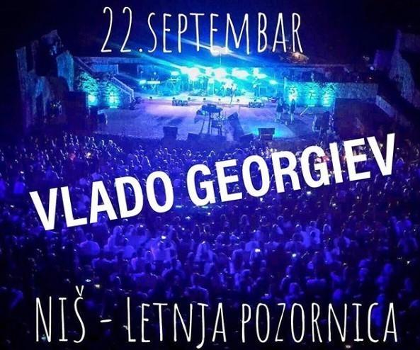 Vlado Georgijev 22. septembra na Letnjoj pozornici u Nišu