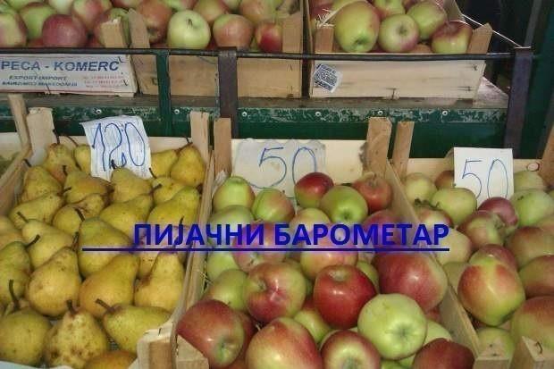 Пијачни барометар: Цене на пијацама у Нишу за 23. октобар 2016.